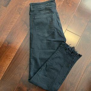 Mavi Black High Rise Skinny Jeans / Distressing